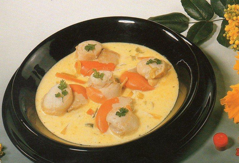 Jean claude 39 s news soupe de coquilles saint jacques au - Coquille st jacques sur lit de poireaux ...