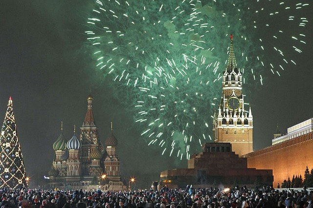 FEUX D'ARTIFICE DU NOUVEL AN dans EVENEMENTS moscou11