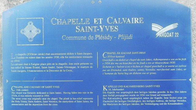 CHAPELLE ET CALVAIRE SAINT-YVES A PLESIDY (22) dans CHAPELLES, EGLISES, CATHEDRALES BINIC-1-300