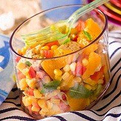 SALADE FRAICHEUR AU POULET ET A L'ORANGE dans CUISINE GOURMANDE saladepoulet