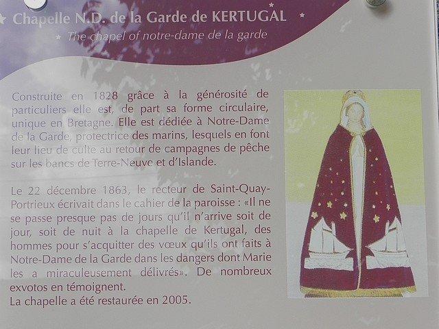 CHAPELLE NOTRE-DAME DE LA GARDE DE KERTUGAL (22) dans CHAPELLES, EGLISES, CATHEDRALES BINIC-1-879