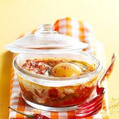 OEUFS COCOTTE PIPERADE dans CUISINE GOURMANDE oeufscocottepiperade