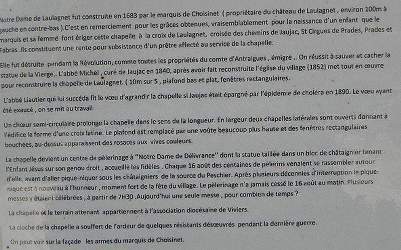 CHAPELLE NOTRE-DAME DE LAULAGNET A JAUJAC (07) dans CHAPELLES, EGLISES, CATHEDRALES ard-nov-2012-006