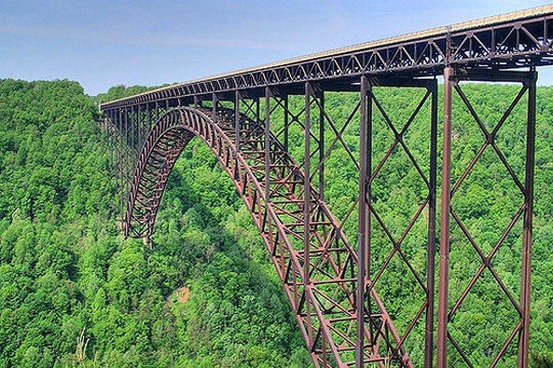 LE NEW RIVER GORGE BRIDGE dans LES PLUS GRANDS PONTS DU MONDE pont15