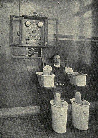 BAIN ELECTRIQUE ANTI-RHUMATISME EN 1916 dans BIEN ETRE bain1