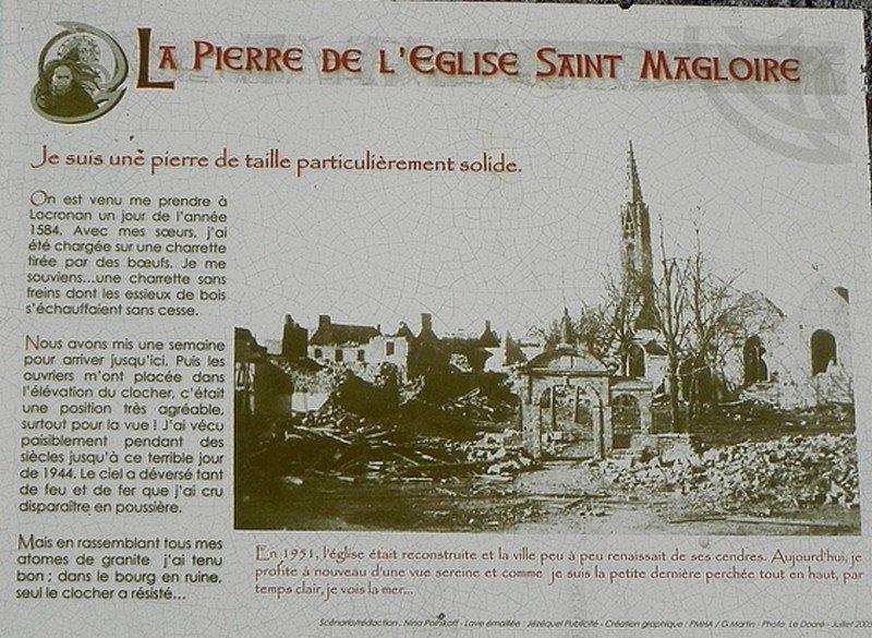 LA PIERRE DE L'EGLISE SAINT MAGLOIRE A LOCRONAN (29) dans LA BRETAGNE 198